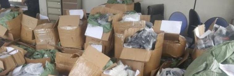 Produits de contrefaçon saisis par les douanes