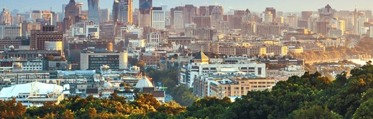 la ville de Hanghzou vue de haut