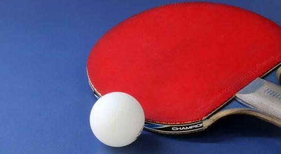 Une raquette et une balle de ping pong